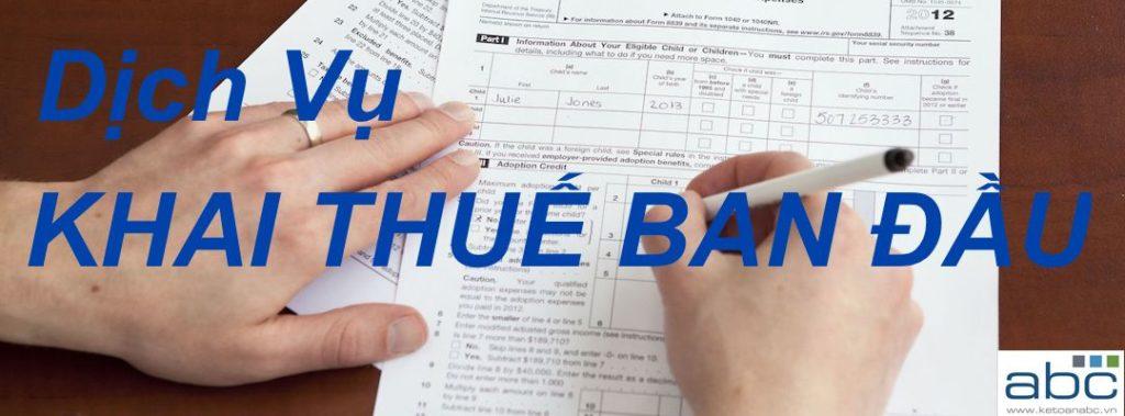 Khai Thuế Ban Đầu